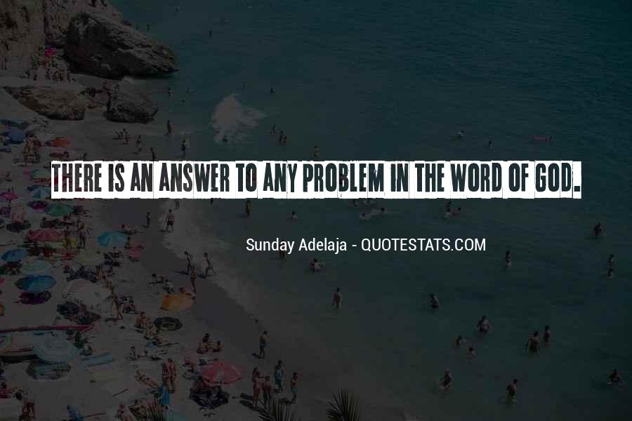 God Is The Answer Quotes #26663