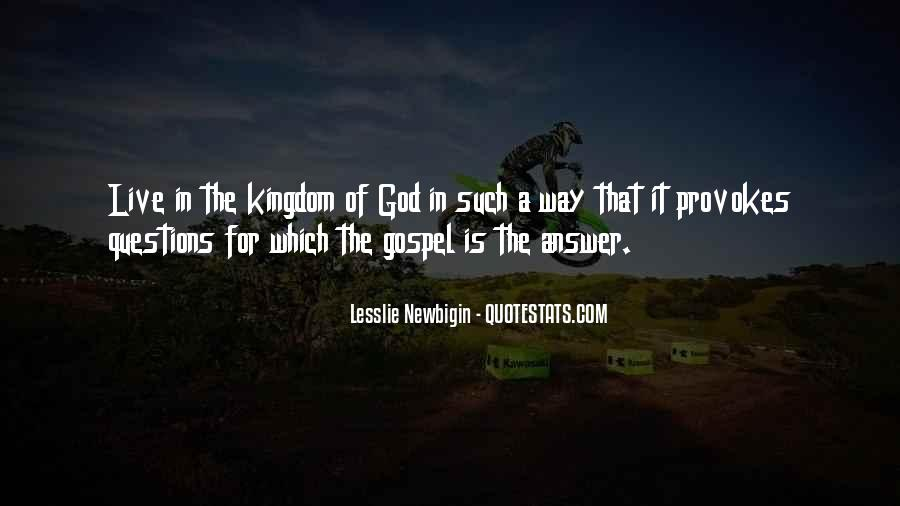 God Is The Answer Quotes #454497