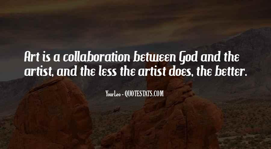 God Is The Artist Quotes #785634