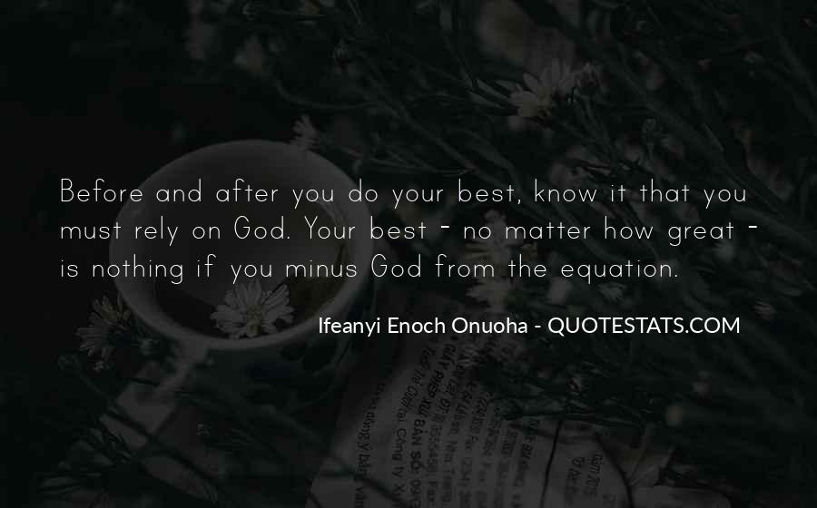 God Is The Best Quotes #126046