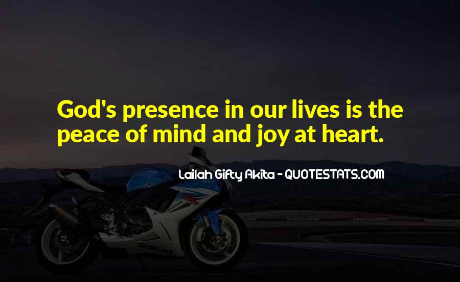 God Peace Of Mind Quotes #1013662