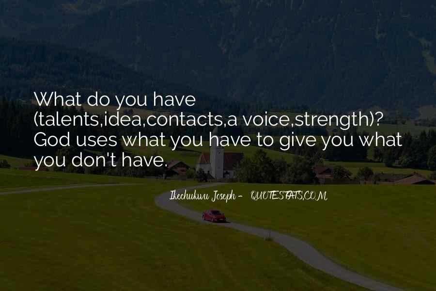 God Prayers Strength Quotes #1816105