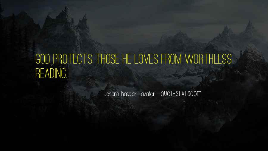 God Protects His Own Quotes #1417765