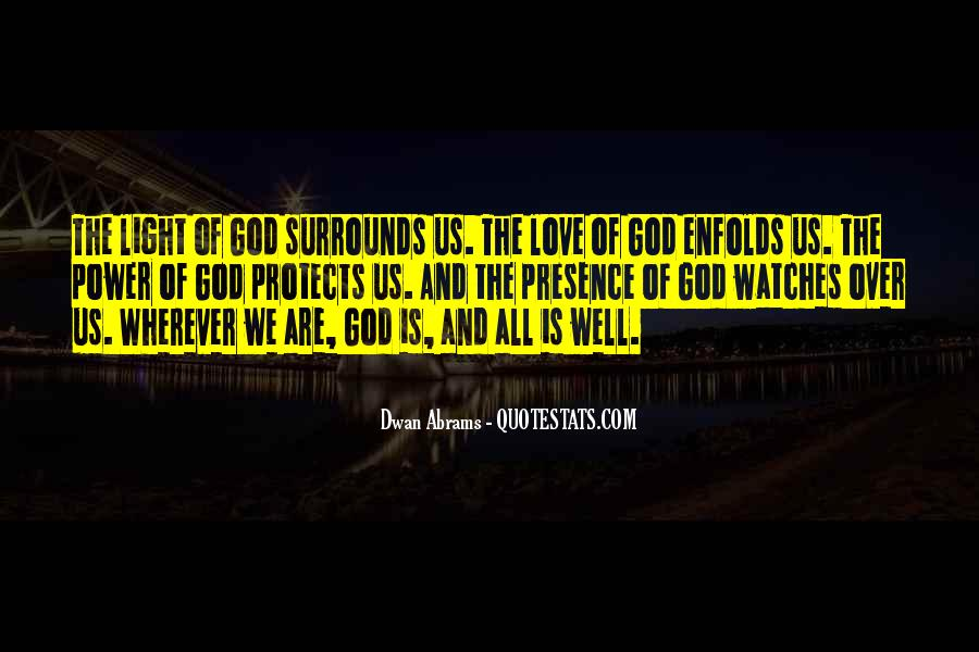 God Protects His Own Quotes #319801