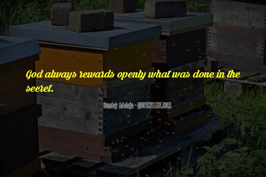 God Rewards Quotes #1752412