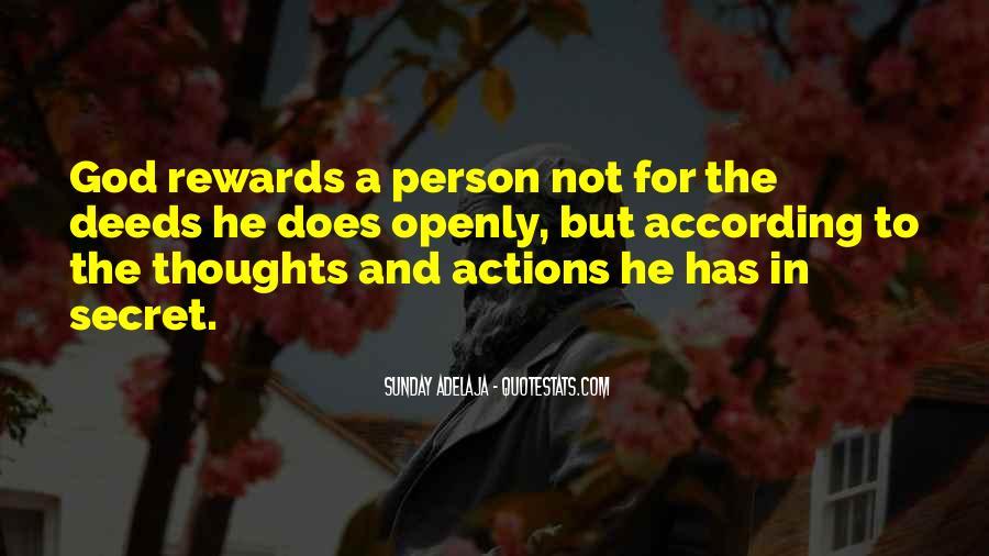 God Rewards Quotes #736190