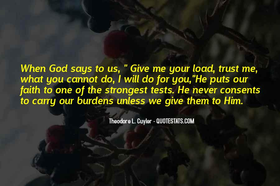 God Says Never Give Up Quotes #916356