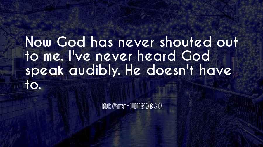 God Speak To Me Quotes #449025