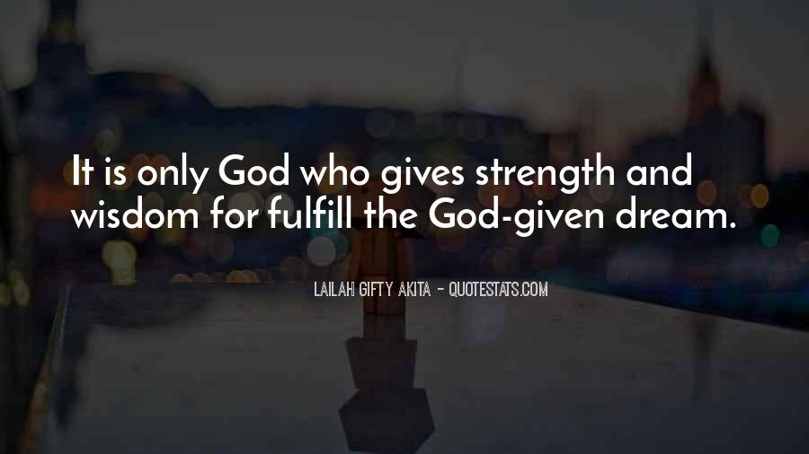 God Strength Quotes #139589