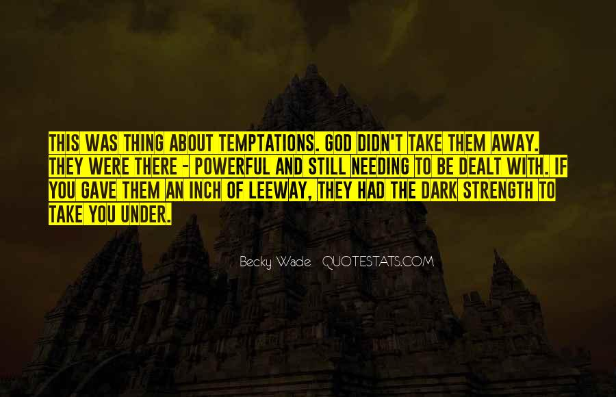 God Strength Quotes #160694