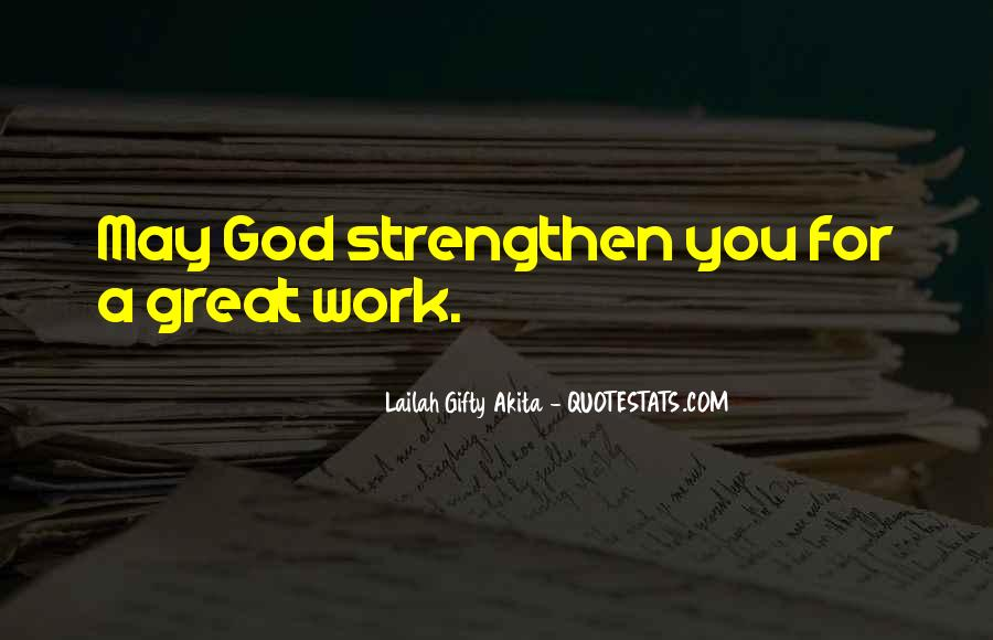 God Strength Quotes #189438