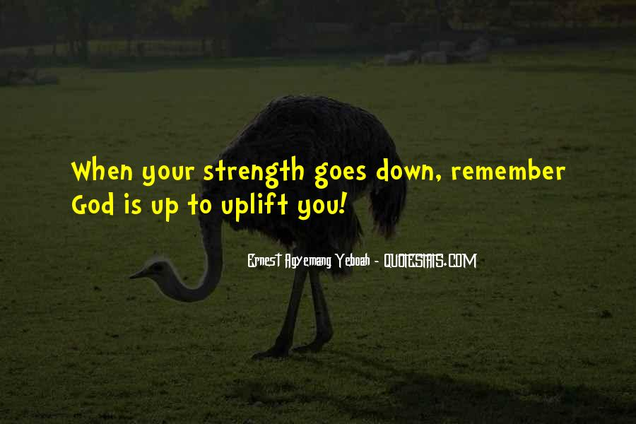 God Strength Quotes #196332