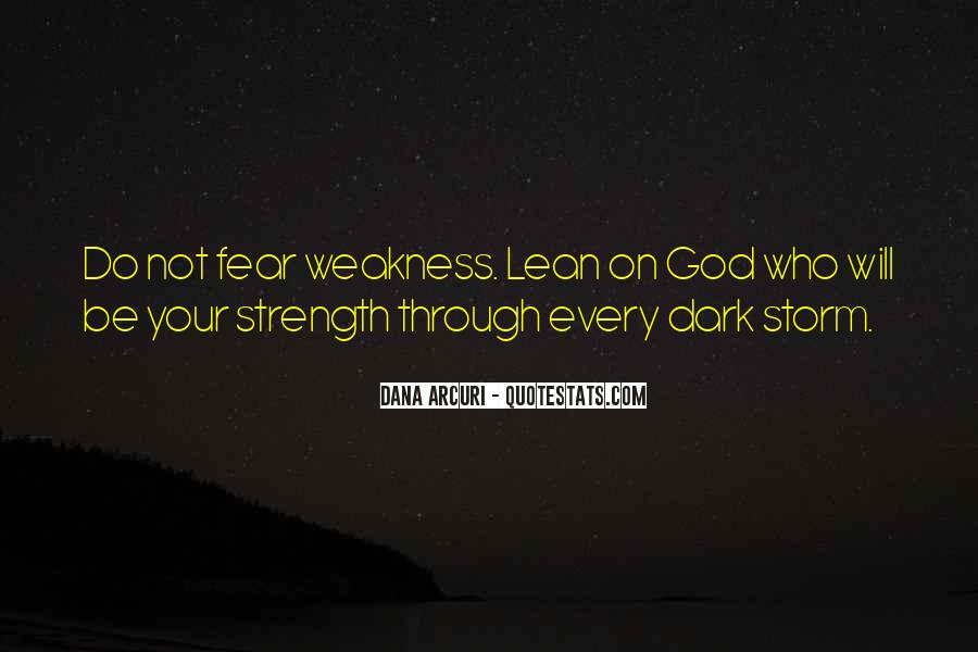God Strength Quotes #218450