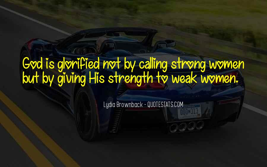 God Strength Quotes #71482
