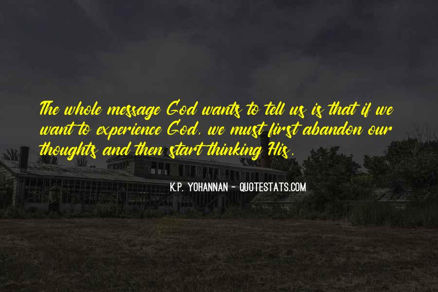 God Wants Quotes #128291