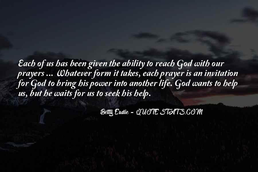 God Wants Quotes #99534