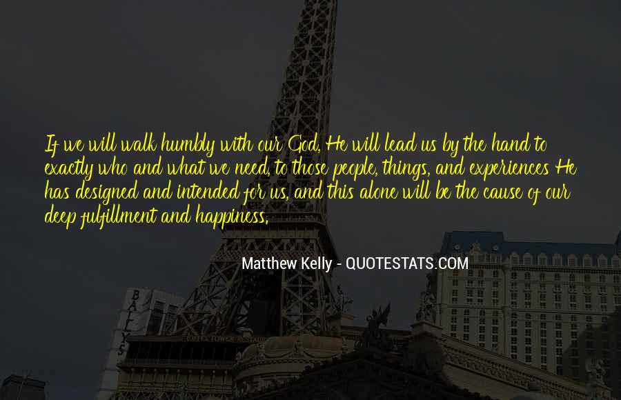God Will Lead Us Quotes #1509652