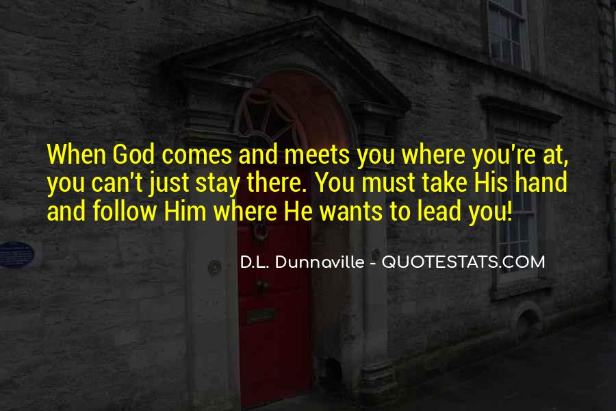 God Will Lead Us Quotes #168722