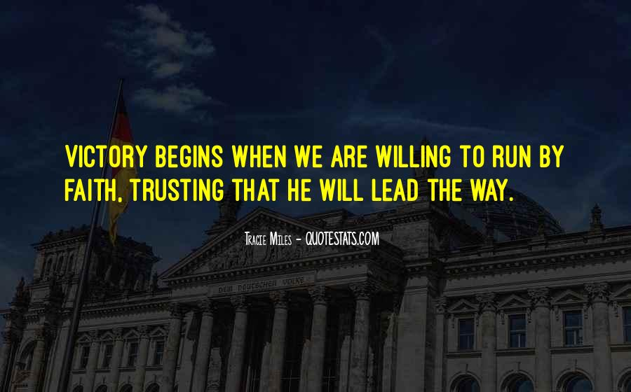 God Will Lead Us Quotes #204240