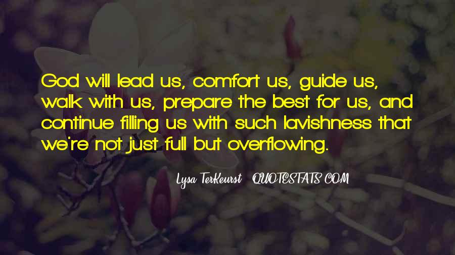 God Will Lead Us Quotes #265504