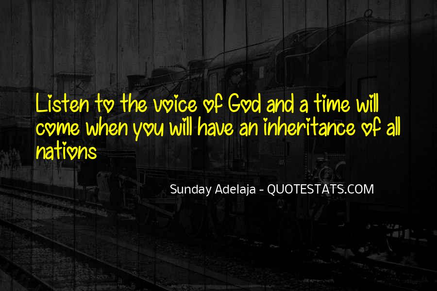 God Will Listen Quotes #1355724