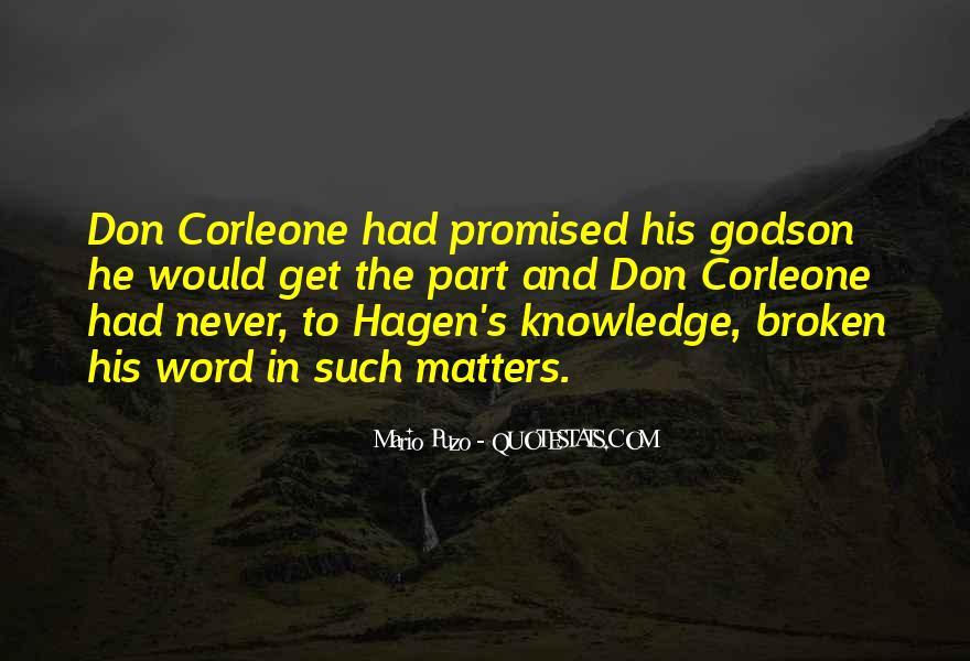 Godfather And Godson Quotes #1550425