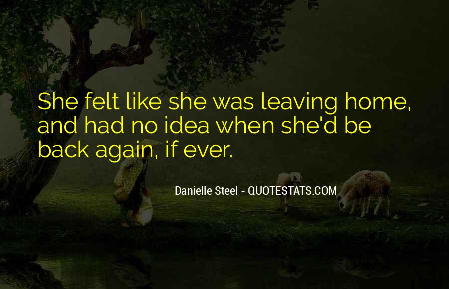 Going Back Home Again Quotes #131117