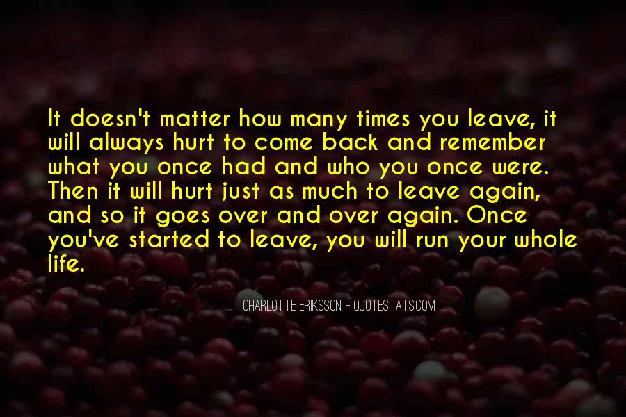 Going Back Home Again Quotes #88173