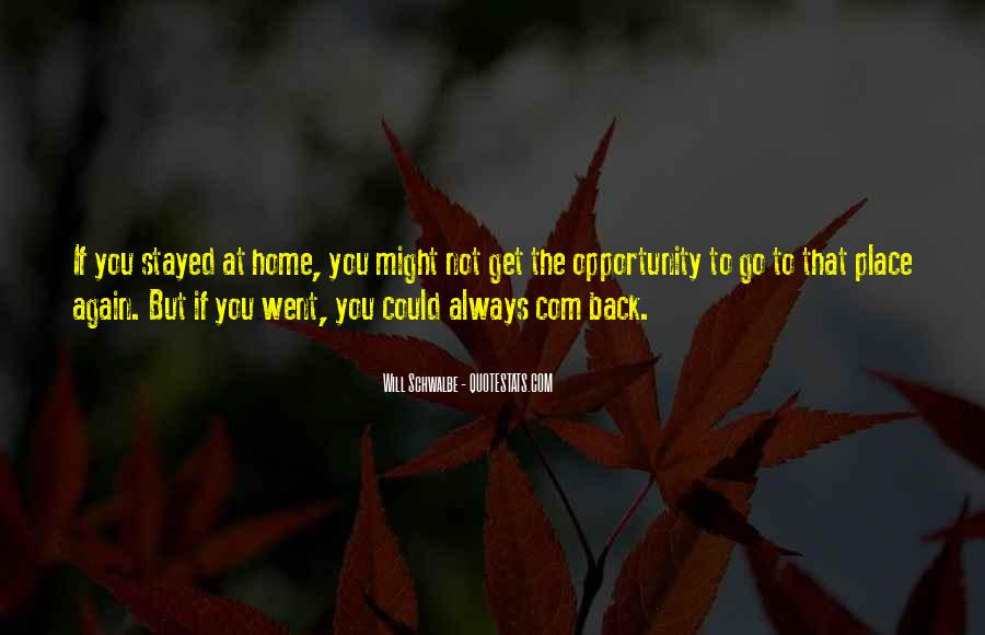 Going Back Home Again Quotes #947551