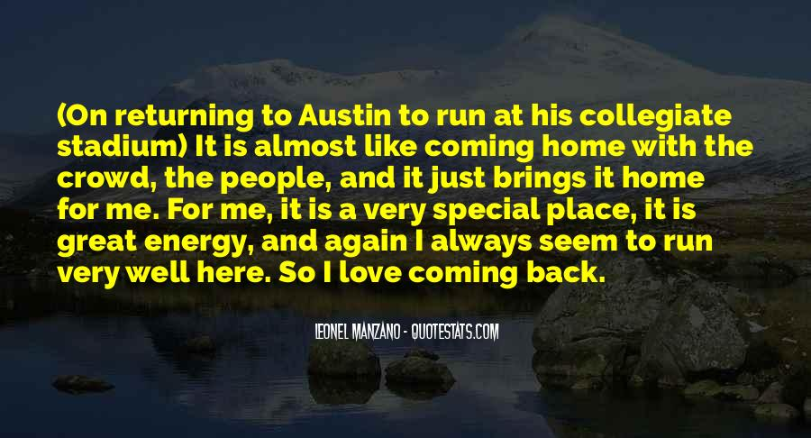 Going Back Home Again Quotes #975049