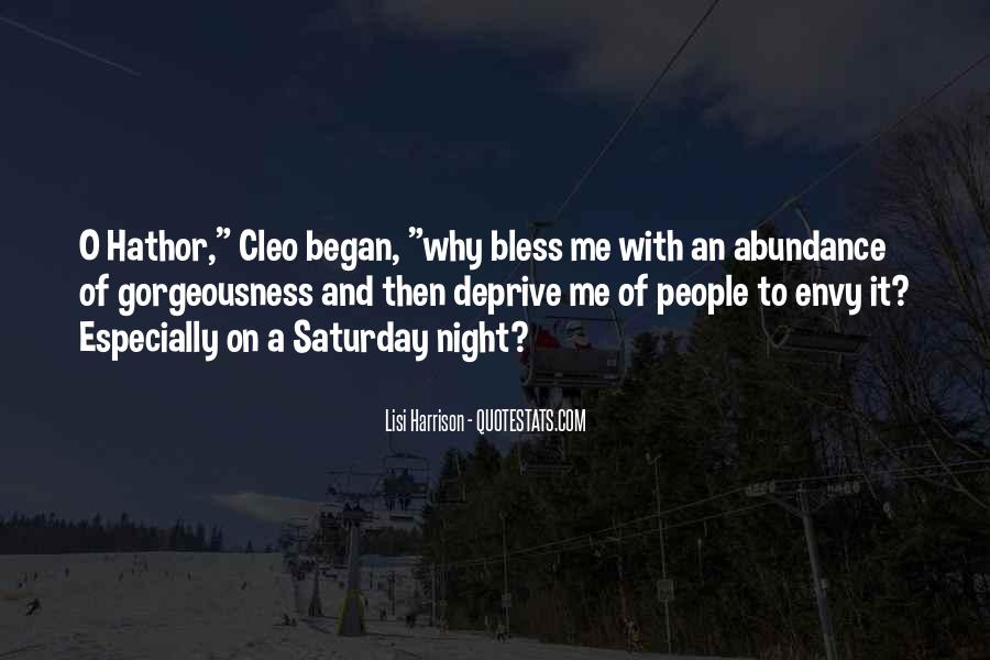 Going Out On Saturday Night Quotes #144465