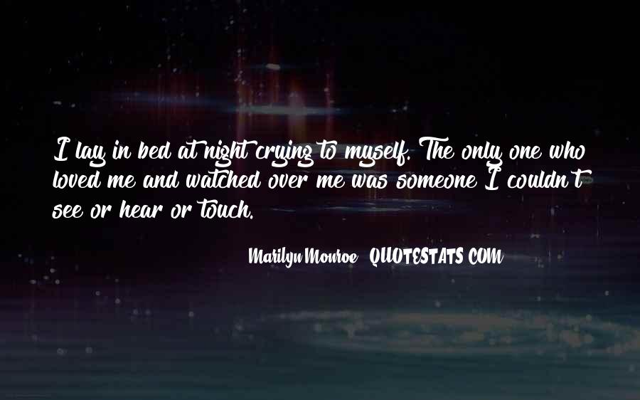 Going To Bed Crying Quotes #1069105