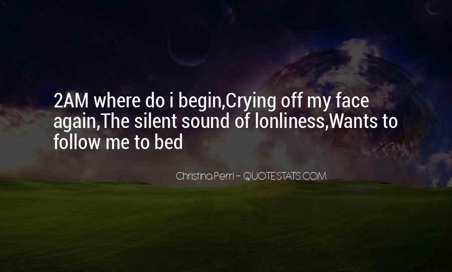 Going To Bed Crying Quotes #224791