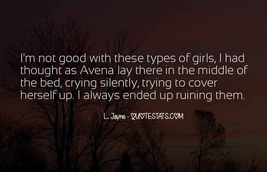 Going To Bed Crying Quotes #67833