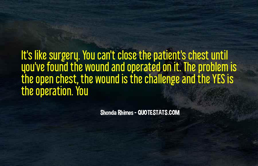 Going Under Surgery Quotes #42724