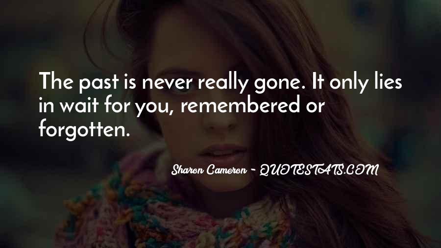 Gone Never Forgotten Quotes #190944