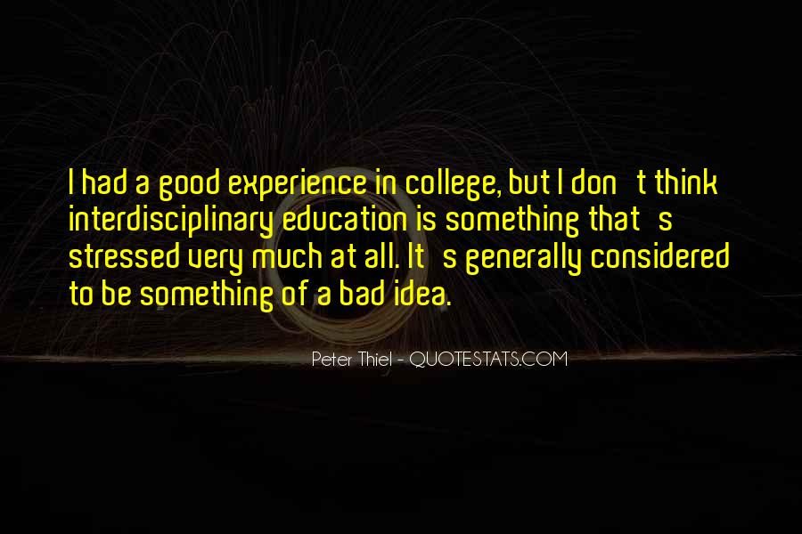 Good College Education Quotes #448168