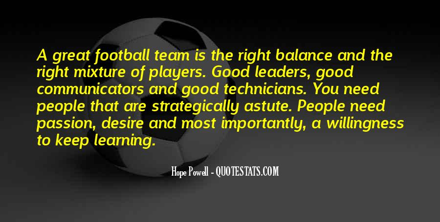 Good Football Team Quotes #1006704