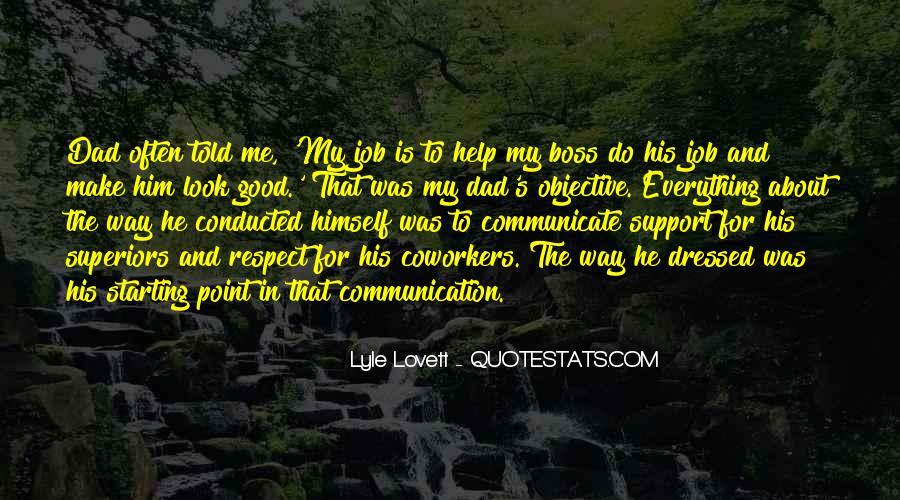 Good Job Boss Quotes #377751