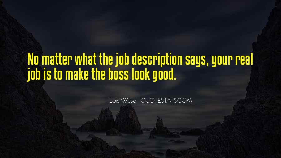 Good Job Boss Quotes #491181