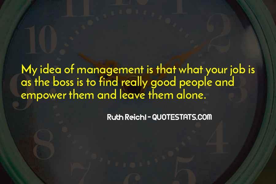 Good Job Boss Quotes #816671
