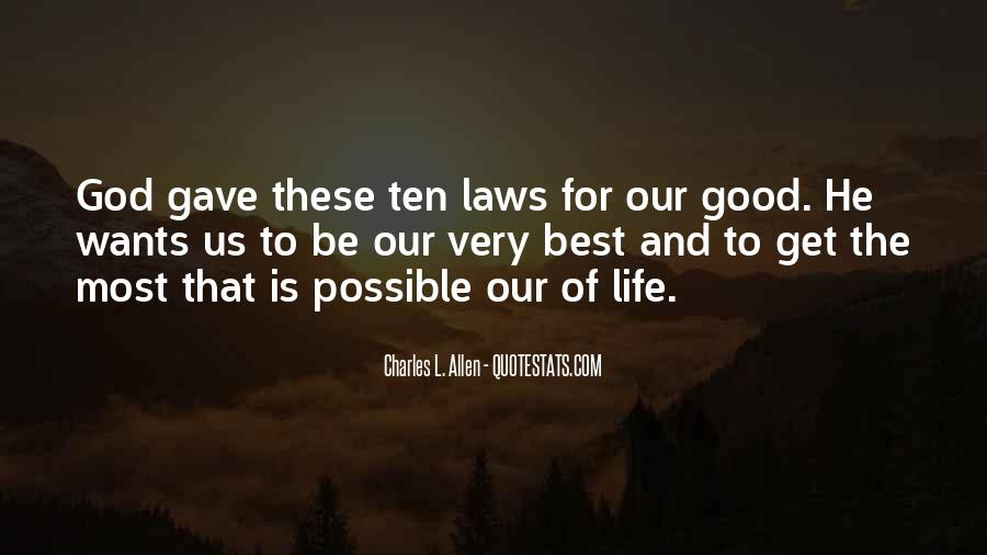 Good Law Of Life Quotes #302884