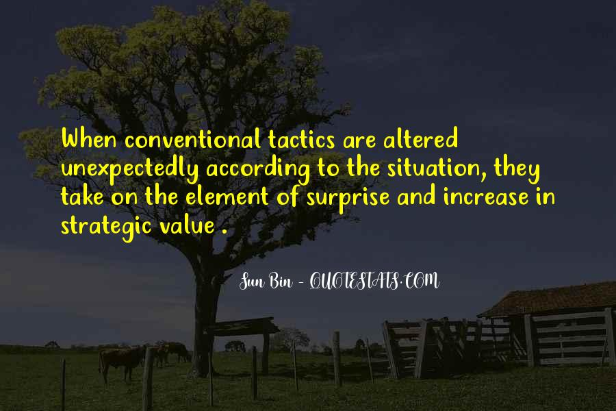 Quotes About The Element Of Surprise #1389292