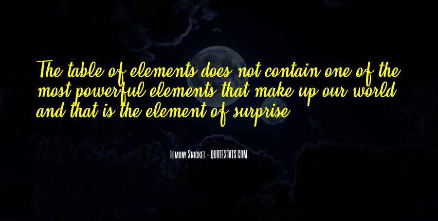 Quotes About The Element Of Surprise #1472024