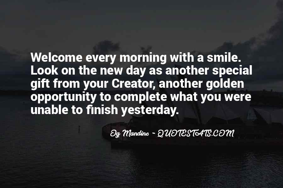 Good Morning And Smile Quotes #335036