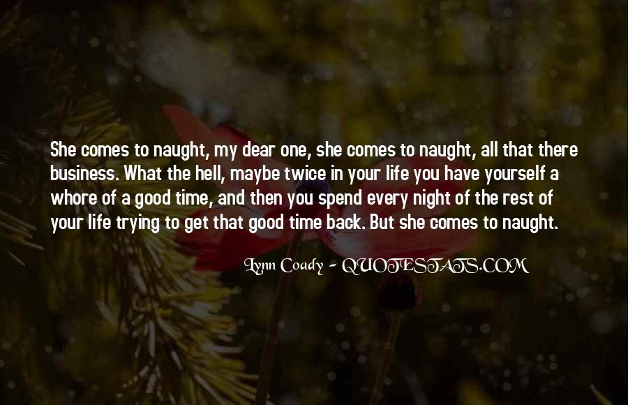 Good Night Time Quotes #2839