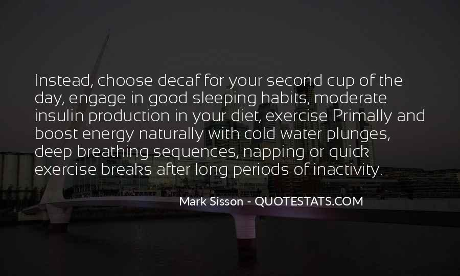 Good Sleeping Habits Quotes #150921