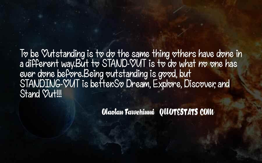 Good Stand Out Quotes #220661