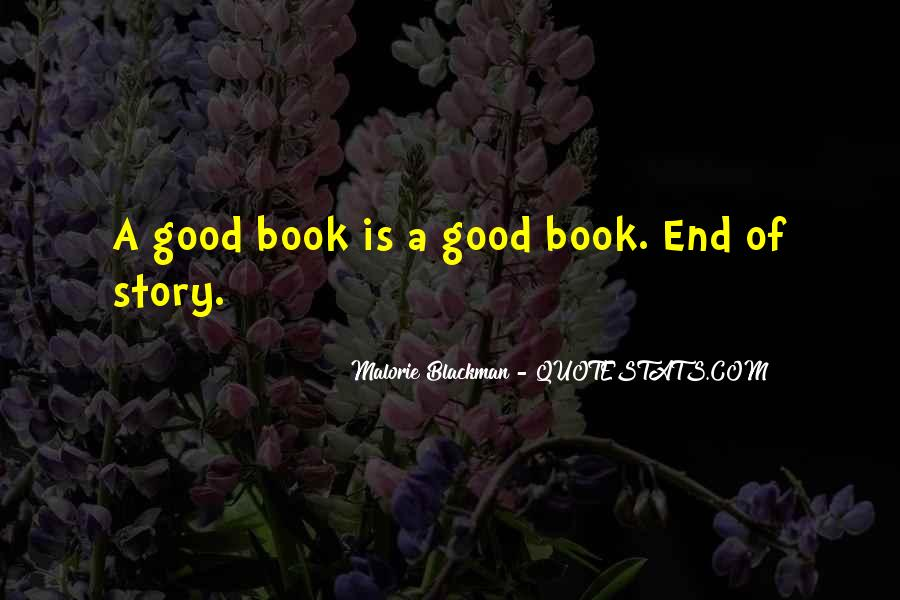 Good Story Book Quotes #1363382