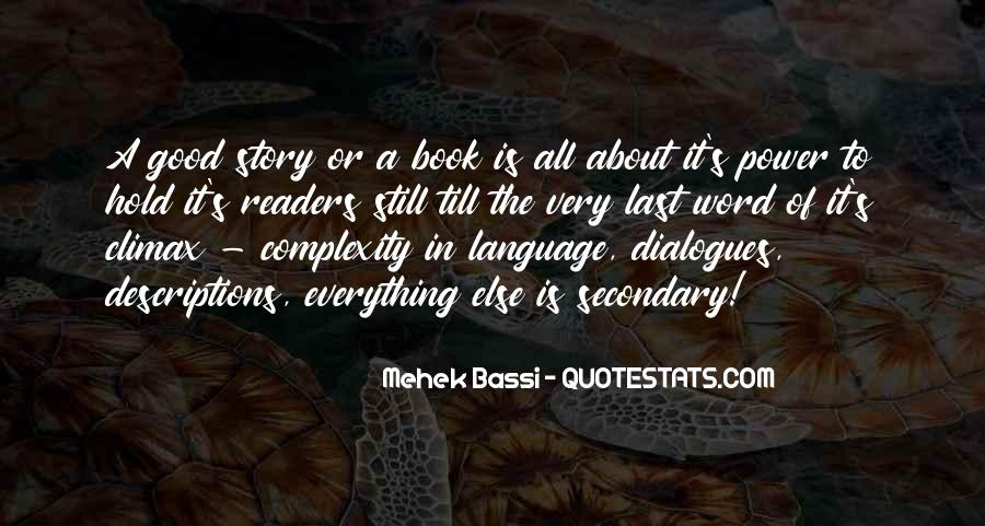 Good Story Book Quotes #419031